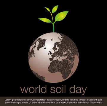 world soil day concept banner.vector illustration