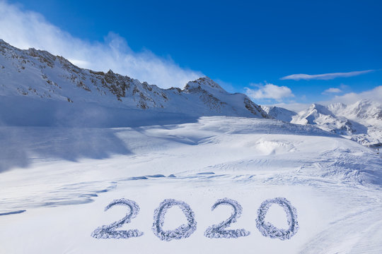 2020 on snow at mountains
