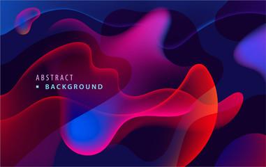 Vector modern colorful fluid flow poster template. Wave liquid gradient transparent shapes Fototapete
