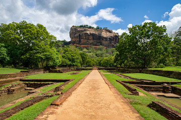 Sigiriya Rock (Lion Rock) is a UNESCO World Heritage Site and ancient fortress near Dambulla, Sri Lanka