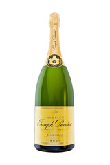 BATH, UK - FEB 28, 2011 : Unopened Magnum of Joseph Perrier Champagne isolated against white.