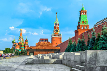 Kremlin and St. Basil's Cathedral on the Red Square, Moscow, Russia