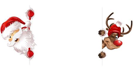 Weihnachten Weihnachtsmann Rudulph Seiteite eps10 Illustration vektor