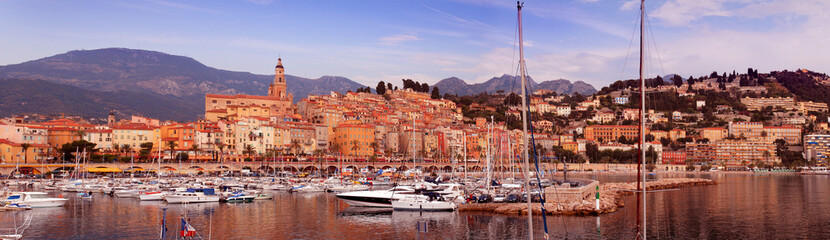 The town of Menton in the south of France