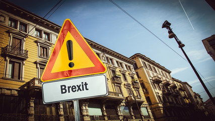 Street Sign to Brexit