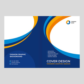 Cover design for presentations and advertising, creative layout of booklet cover, catalog, flyer, fashionable background for text and photo