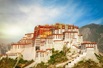 The famous Potala Palace in Lhasa, Tibet