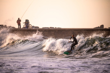 Surfer in Portugal