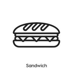 Photo sur Aluminium Snack sandwich icon vector. sandwich icon vector symbol illustration. Modern simple vector icon for your design. sandwich icon vector