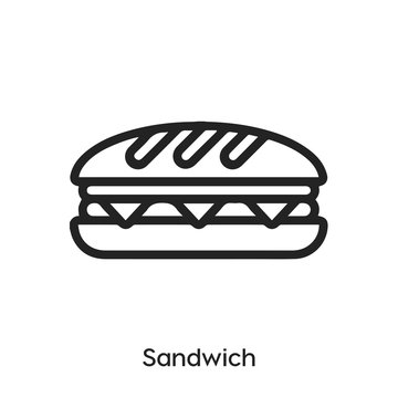 sandwich icon vector. sandwich icon vector symbol illustration. Modern simple vector icon for your design. sandwich icon vector