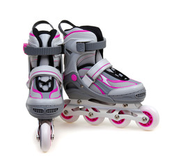 roller skates isolated on white