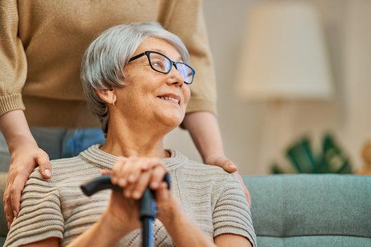 Happy patient and caregiver
