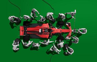 Zelfklevend Fotobehang F1 italian pitstop