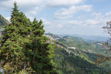 Mussoorie hill side in uttarakhand india
