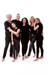 Familienwerte, glückliche Familie beim Fotografen SW