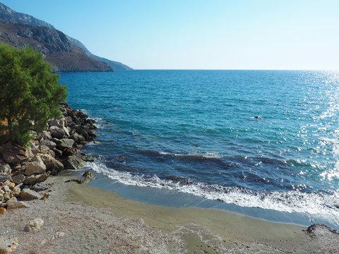Kalymnos - Badebucht in Panormos