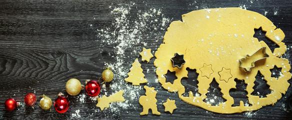 Weihnachtsbäckerei zu Hause, Banner, Header, Headline