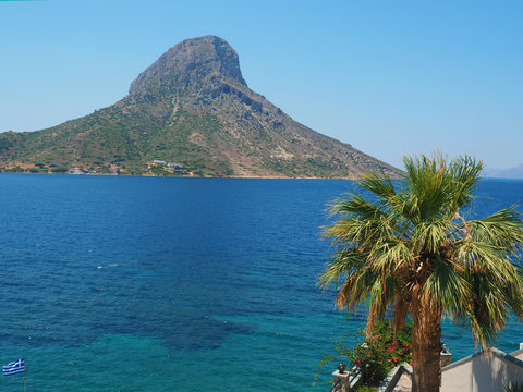 Kalymnos - Blick auf Telendos von Massouri