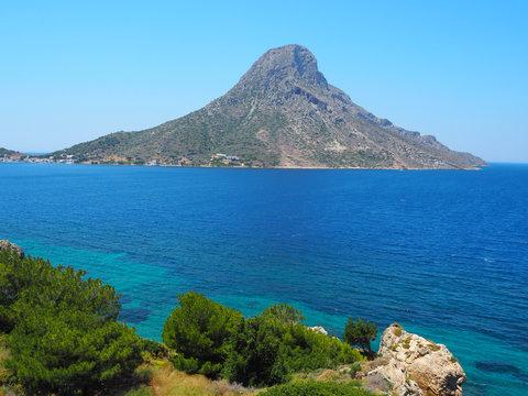 Kalymnos - Blick auf die Insel Telendos