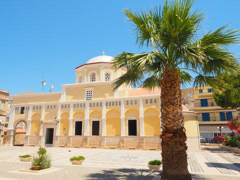 Kalymnos - Platz in der Hautstadt