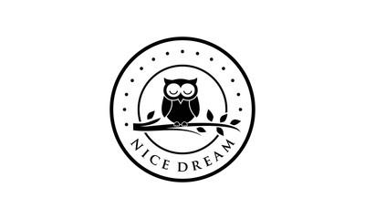 Wall Murals Owls cartoon Creative owl for logo design concept