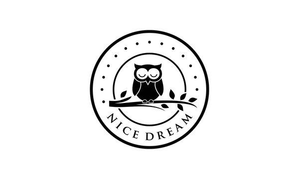 Creative owl for logo design concept