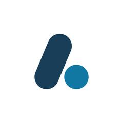color font leter line dot logo design