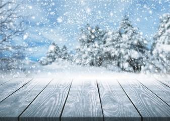 Foto op Canvas Donkergrijs Winter.
