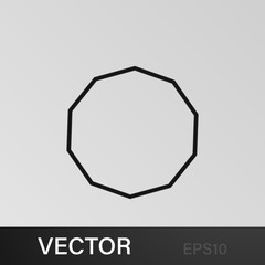 decagon icon. Geometric figure Element for mobile concept and web apps