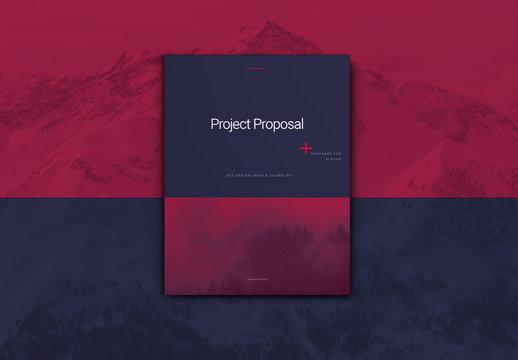 Purple Business Proposal Layout