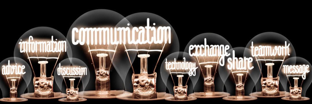 Light Bulbs with Communication Concept