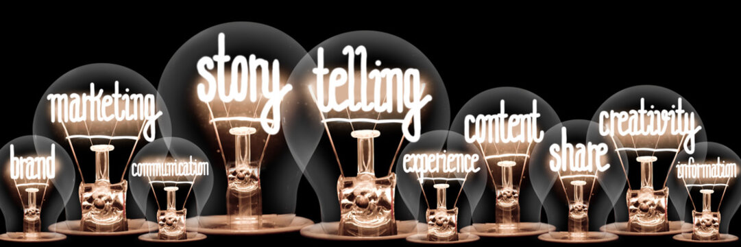 Light Bulbs with Story Telling Concept