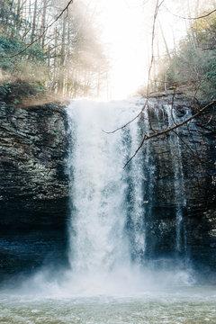 Rushing White Waterfall