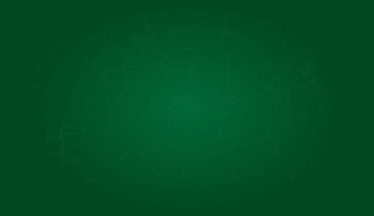 Vector greenboard background. Empty green chalkboard with small scratches. Vector texture.  Wall mural