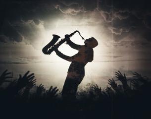 Obraz shadow of the musician p.1 - fototapety do salonu