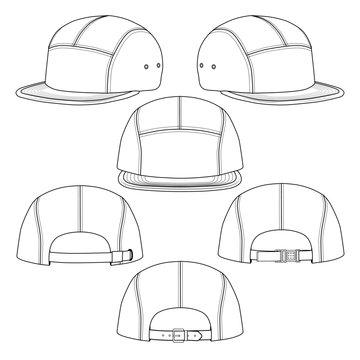 5 panel hat template