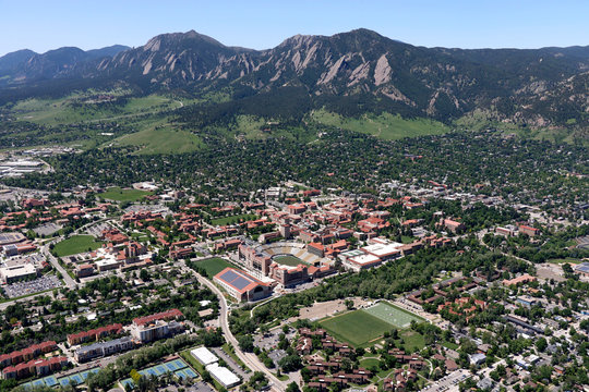 University of Colorado Boulder Aerial