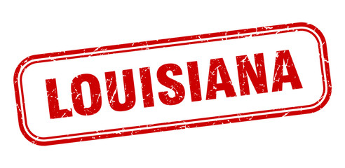 Louisiana stamp. Louisiana red grunge isolated sign Fotomurales