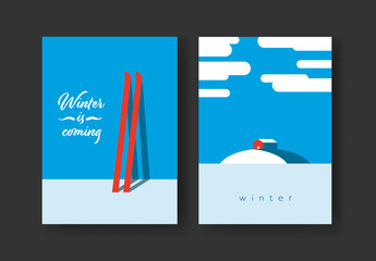 Winter Minimalist Cards Layout