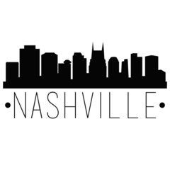 Nashville Tennessee Skyline Silhouette City Design Vector Famous Monuments.