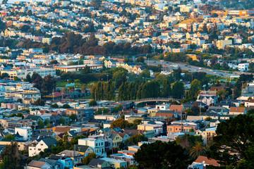View of San Francisco, CA at twilight