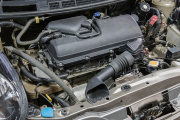Engine and engine compartment of the car