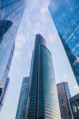 Modern futuristic skyscrapers
