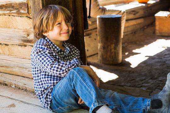 portrait of 6 year old boy