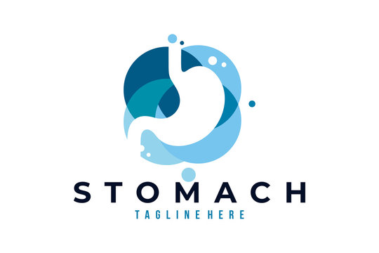 stomach care logo icon vector isolated