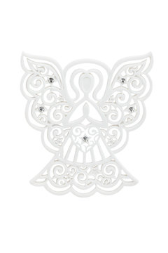 Angel silhouette ornament