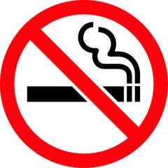 No Smoking Circle Red Icon Symbol