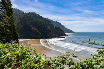 Beach and Coastline in Yachats Oregon