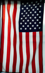 Close up of United States of America flag