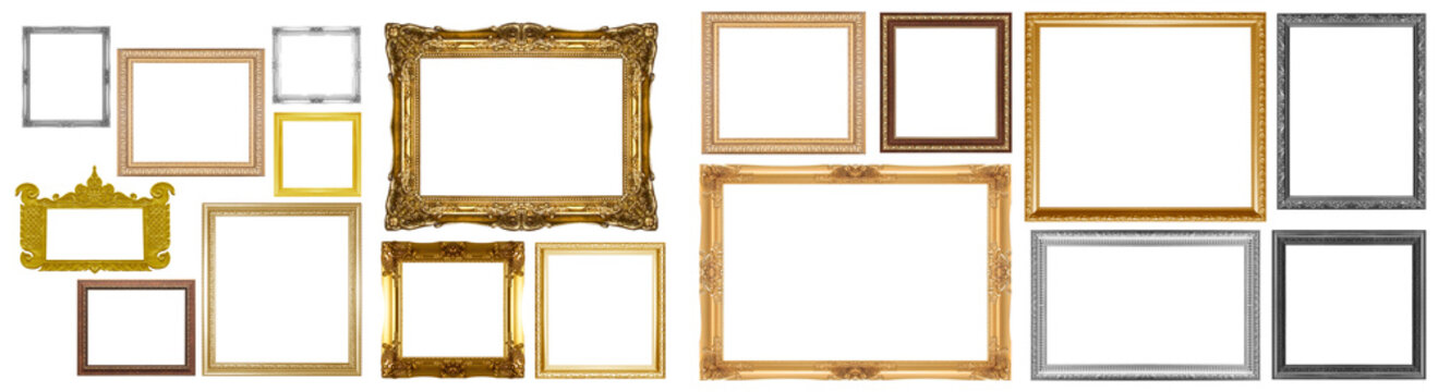 Old gold frame